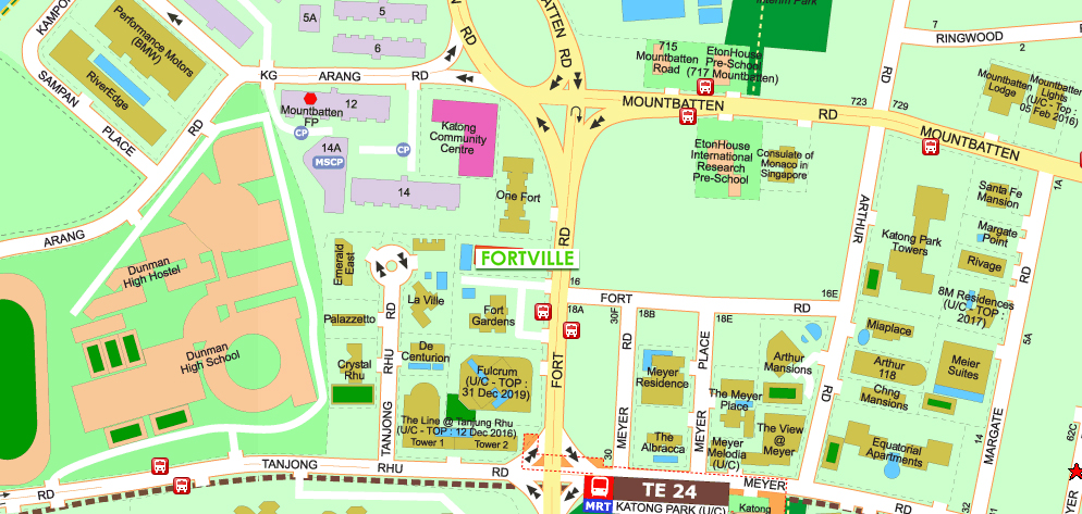 Fortville Serviced Apartments Location