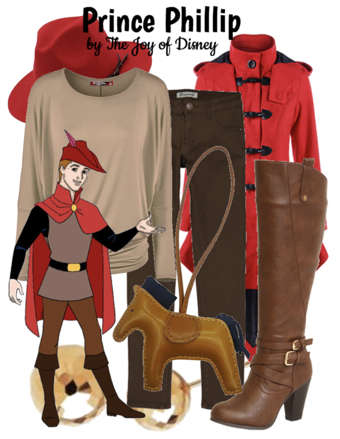 Outfit inspired by Prince Phillip from Sleeping Beauty