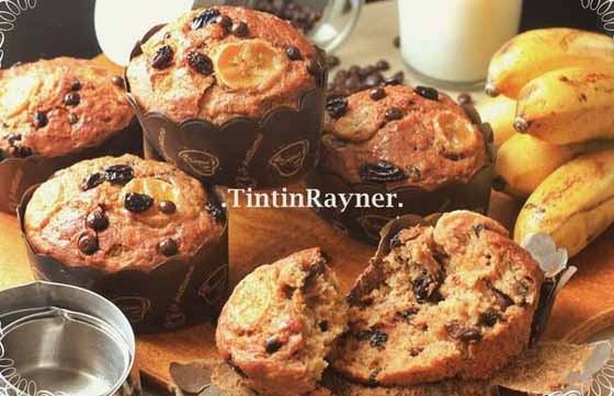 Resep Paling The Best Banana Muffin Ever, Super Moist No mixer Lagi
