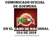 Comunicado Oficial de ADEMEBA sobre el caso COCABAU14