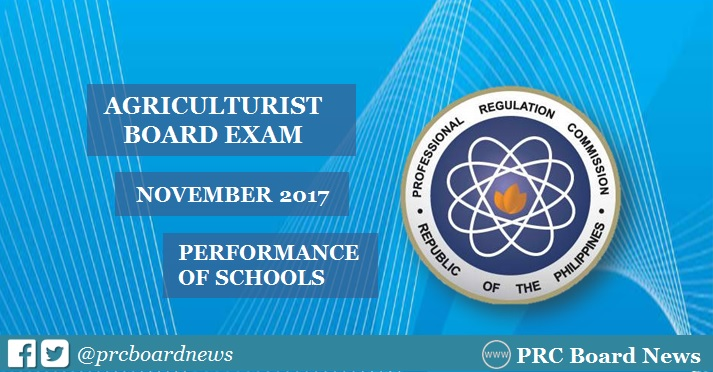 November 2017 Agriculturist board exam result: performance of schools
