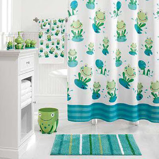 funny frog kids bathroom paint colour mixed with rectangle fluffy rug and white cabinets