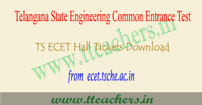 TS ECET hall ticket 2019, Telangana ecet results download
