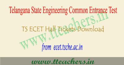 TS ECET hall ticket 2019, Telangana ecet results download
