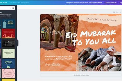 Cara Membuat Kartu Ucapan Idul Fitri Tanpa Photoshop, 2 Menit Jadi