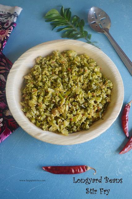 Yard Beans Stir Fry Recipe | Thata payir Poriyal | Karamani Poriyal