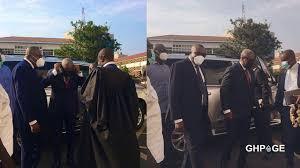 Mahama, lawyers arrive at Supreme Court