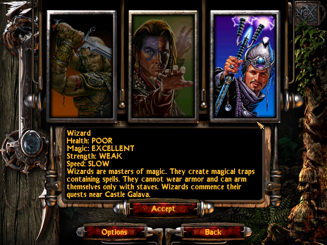 Nox class selection screen