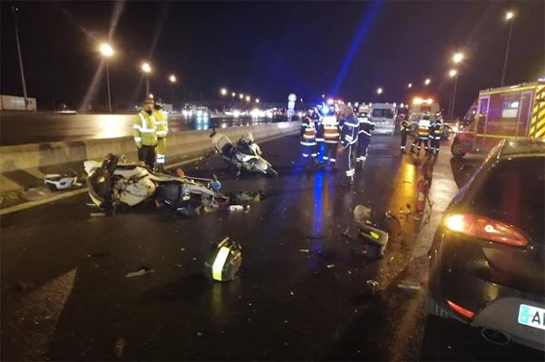 Oise : Deux motards de la police percutés et blessés par un chauffard en état d'ivresse sur l'autoroute A1
