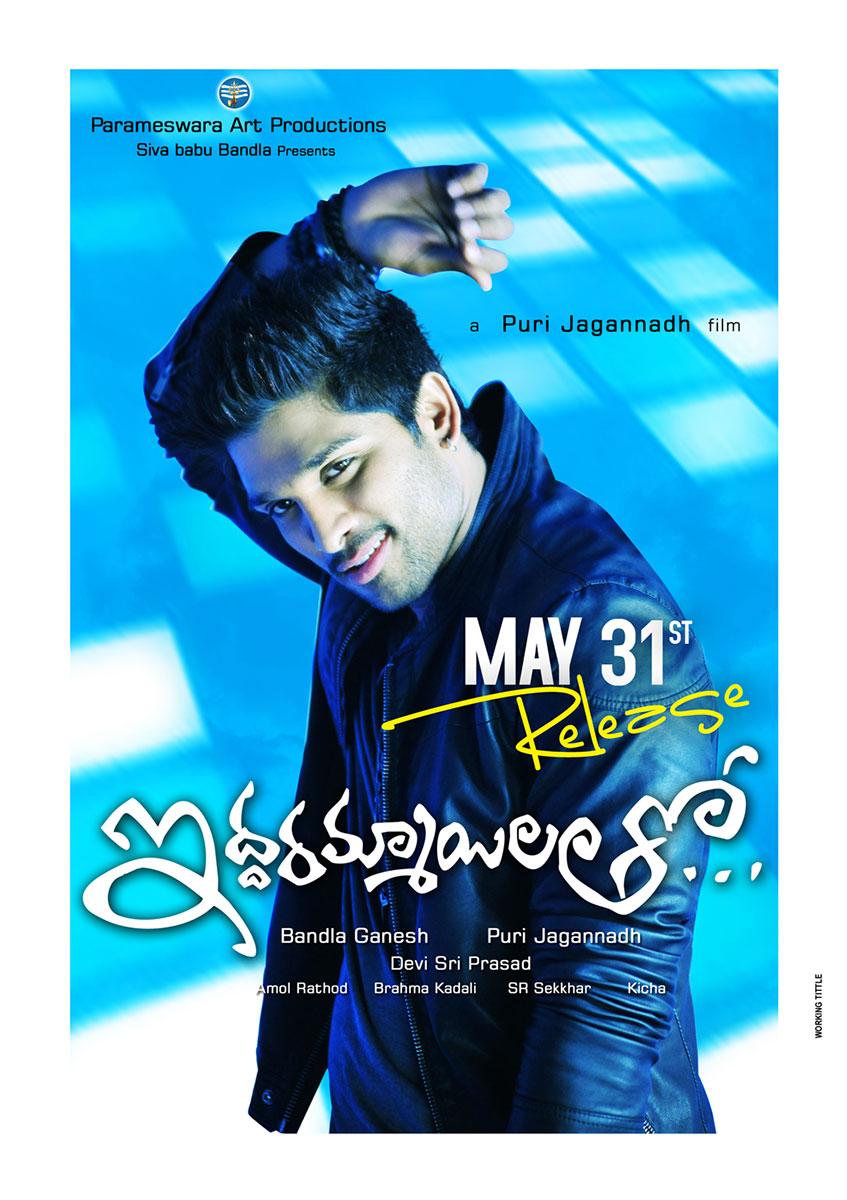 Alluarjun Iddarammayilatho Film Relased Posters
