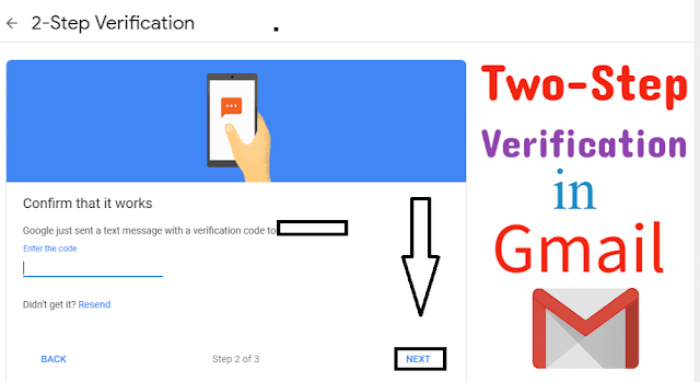 Enable Two Step Verification in Gmail