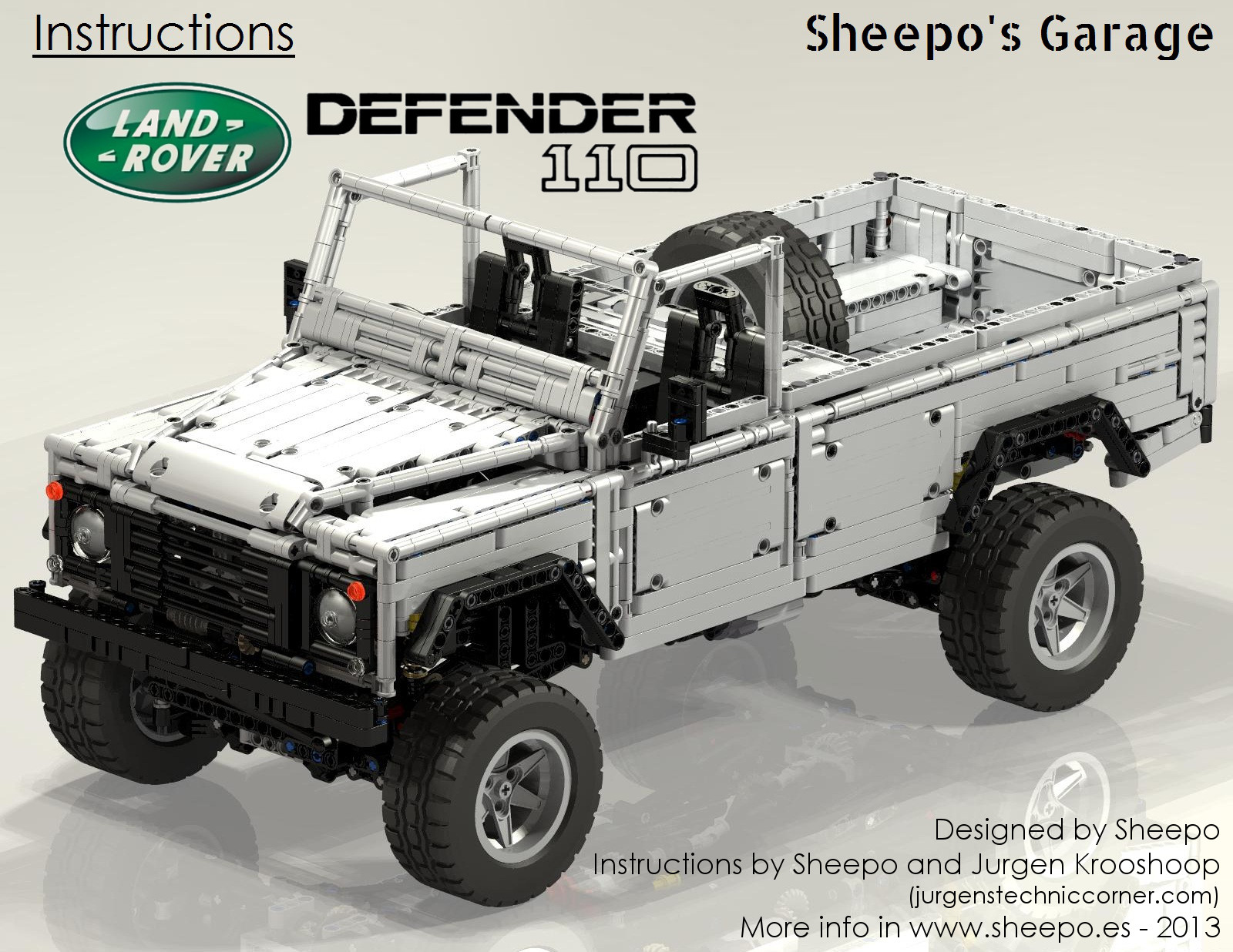 Sheepo s Garage Land Rover Defender 110 instructions are now