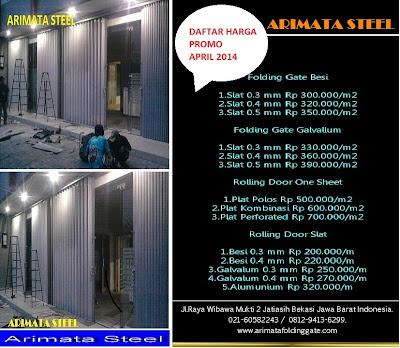 Daftar Harga folding gate per meter