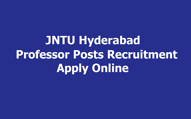JNTU Hyderabad Professor Posts