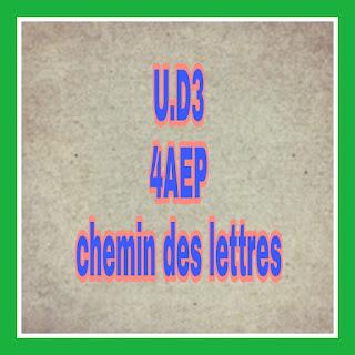 Fiches UD3 chemin des lettres 4AEP 2019 جذاذات الوحدة الثالثة