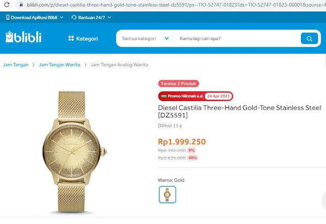 Diesel Jam tangan pria