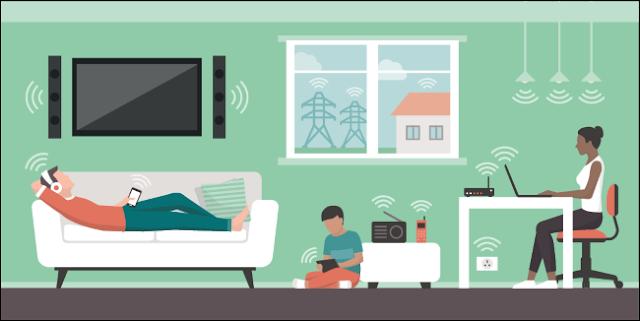 الأجهزة التي تنبعث منها الحقول الكهرومغناطيسية في المنزل