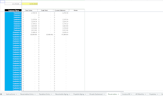 receivables report summary google sheets