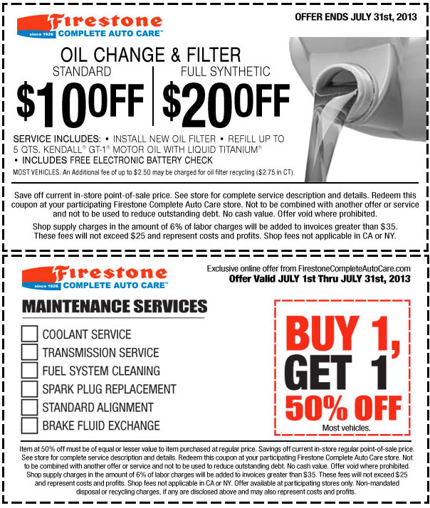 Synthetic Oil Change Coupons >> Firestone Coupons Full Synthetic Oil Change Eye Deals