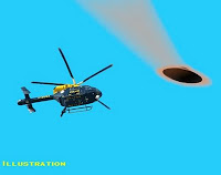 Helicopter Chasing UFO