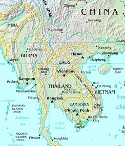 kart over laos Laos bloggen: Kart Laos kart over laos