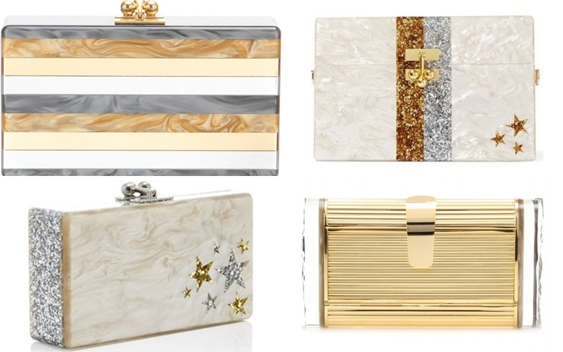 Edie Parker acrylic clutches with stars
