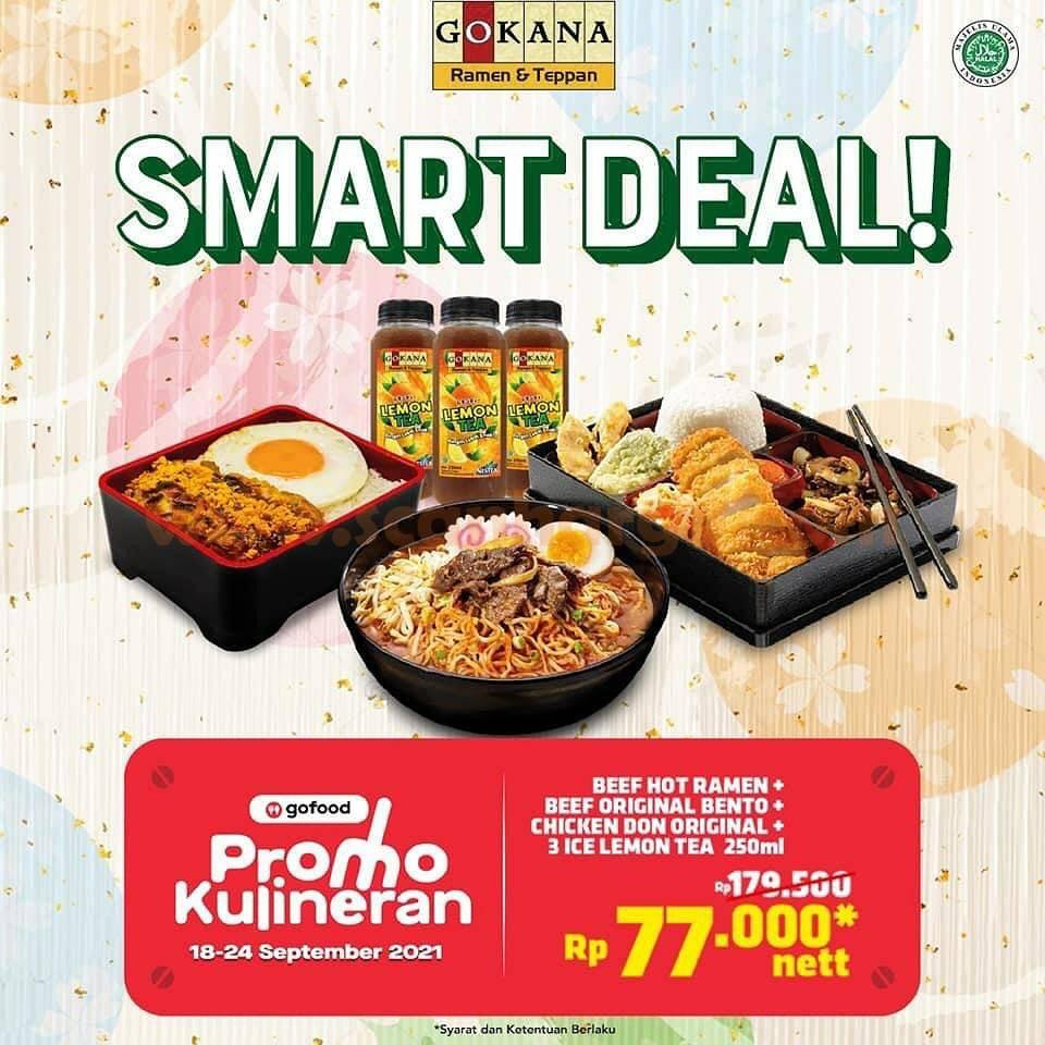GOKANA Promo SMART DEAL GOFOOD - Kulineran Bertiga cuma 25RIBU-an Aja