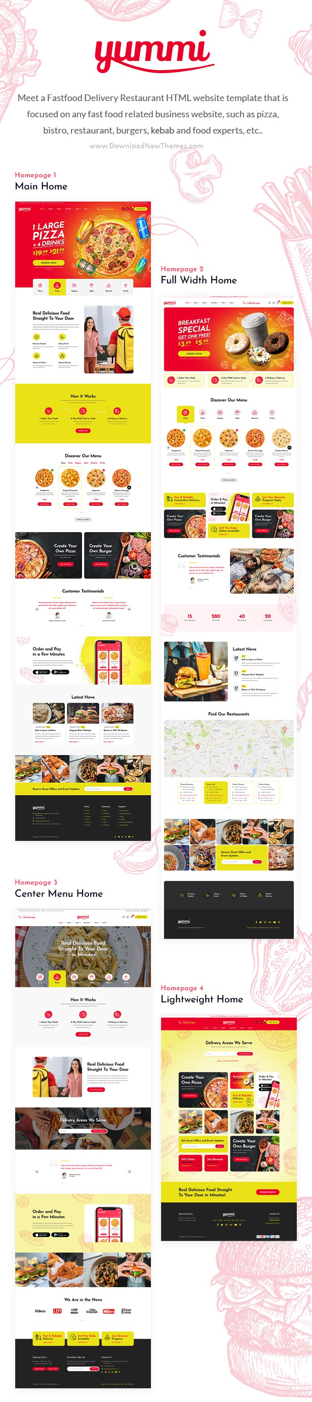 Fast Food Delivery Restaurant HTML Template