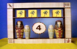 Egyptian 4 appears an animation. Sesame Street The Great Numbers Game
