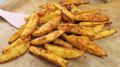 Hrskavi Krumpiri s Paprikom i Češnjakom iz Pećnice - Crispy Roasted Potatoes