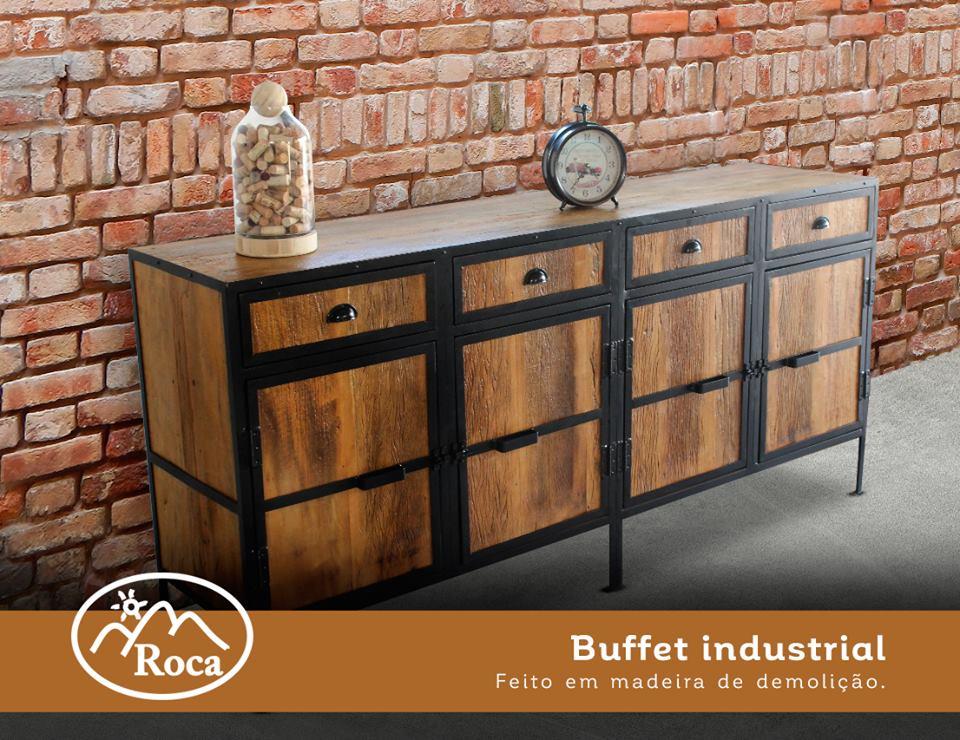 roca m veis e decora o buffet industrial feito em On buffet de estilo industrial barato