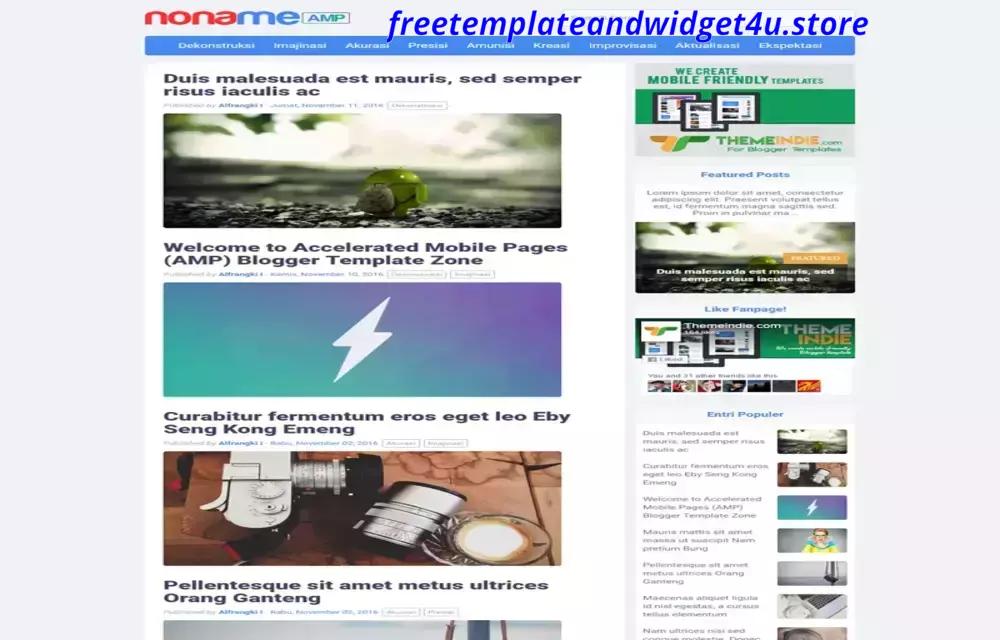 Noname AMP Free Premium Responsive Blogger Template