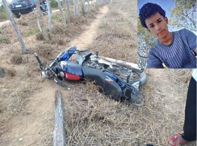 Jovem morre em grave acidente de moto na estrada que liga Ibiaporã a Ruy Barbosa