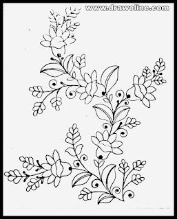 Flowers design draw/how to draw hand embroidery flowers design on tracing-paper