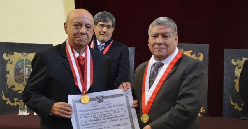 UNMSM: Universidad San Marcos distingue a historiador Waldemar Espinoza Soriano como profesor emérito - www.unmsm.edu.pe