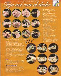 puntos tejidos con las manos