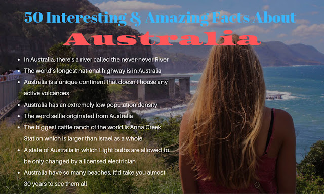 50 amazing and unknown facts about Australia