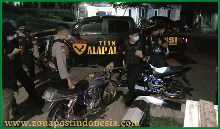 Team Alap-Alap Samapta Polres Jember, Amankan 8 Unit Kendaraan Roda Dua