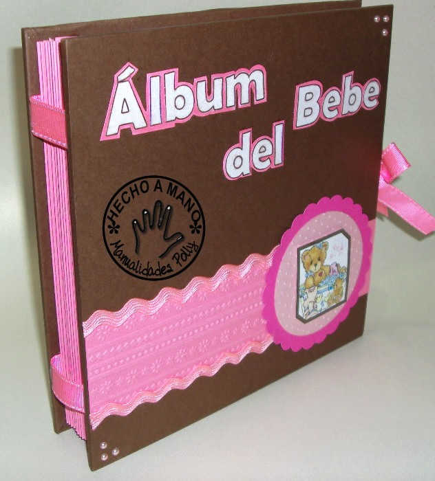 Manualidades polly mini album baby girl - Manualidades album de fotos ...