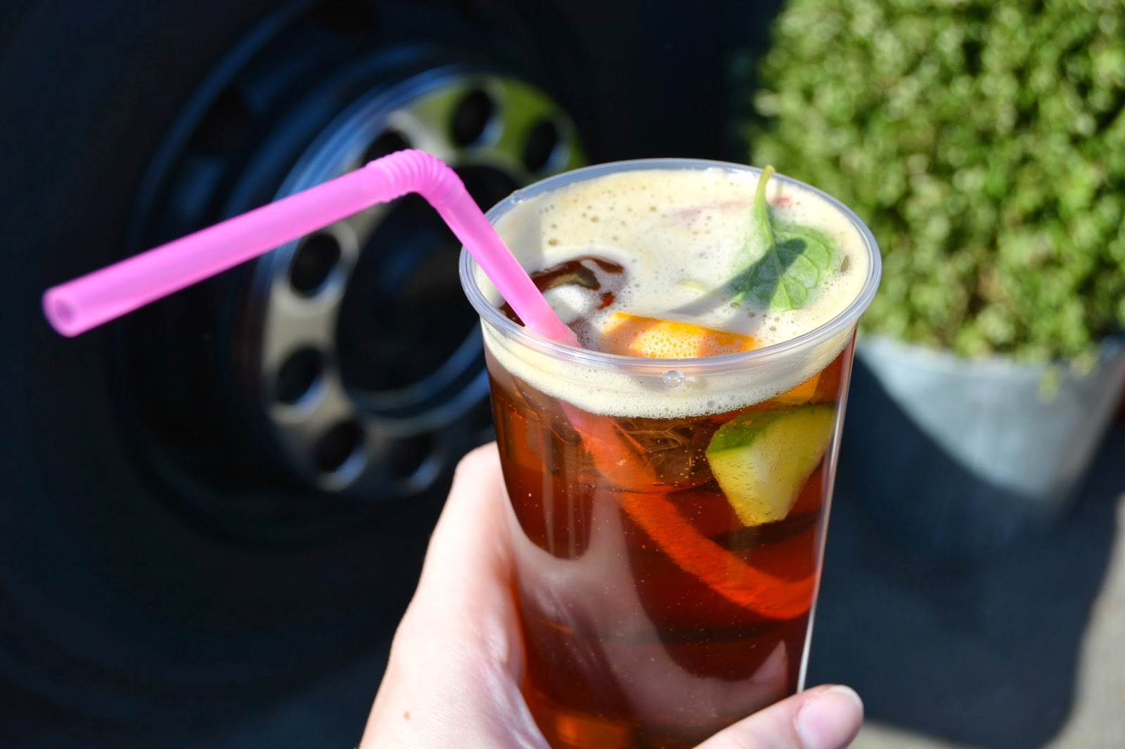 Pimms at the london classic car boot sale