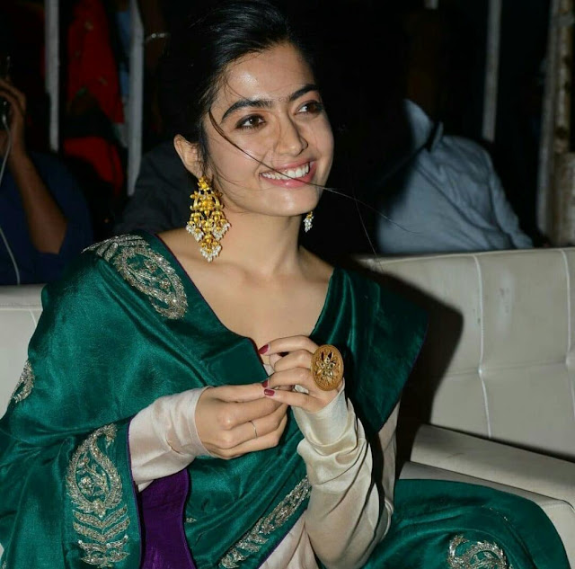 Rashmika Mandanna HD wallpaper in Green Dress