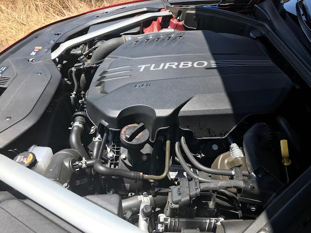 Engine in 2019 Genesis G70 3.3T Dynamic Edition
