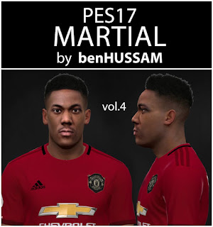 PES 2017 Faces Anthony Martial by BenHussam