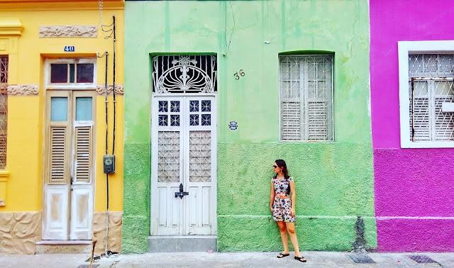 Casinhas coloridas no centro de João Pessoa.
