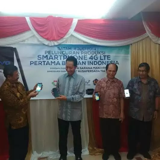 Smartphone 4G LTE Pertama Buatan Indonesia
