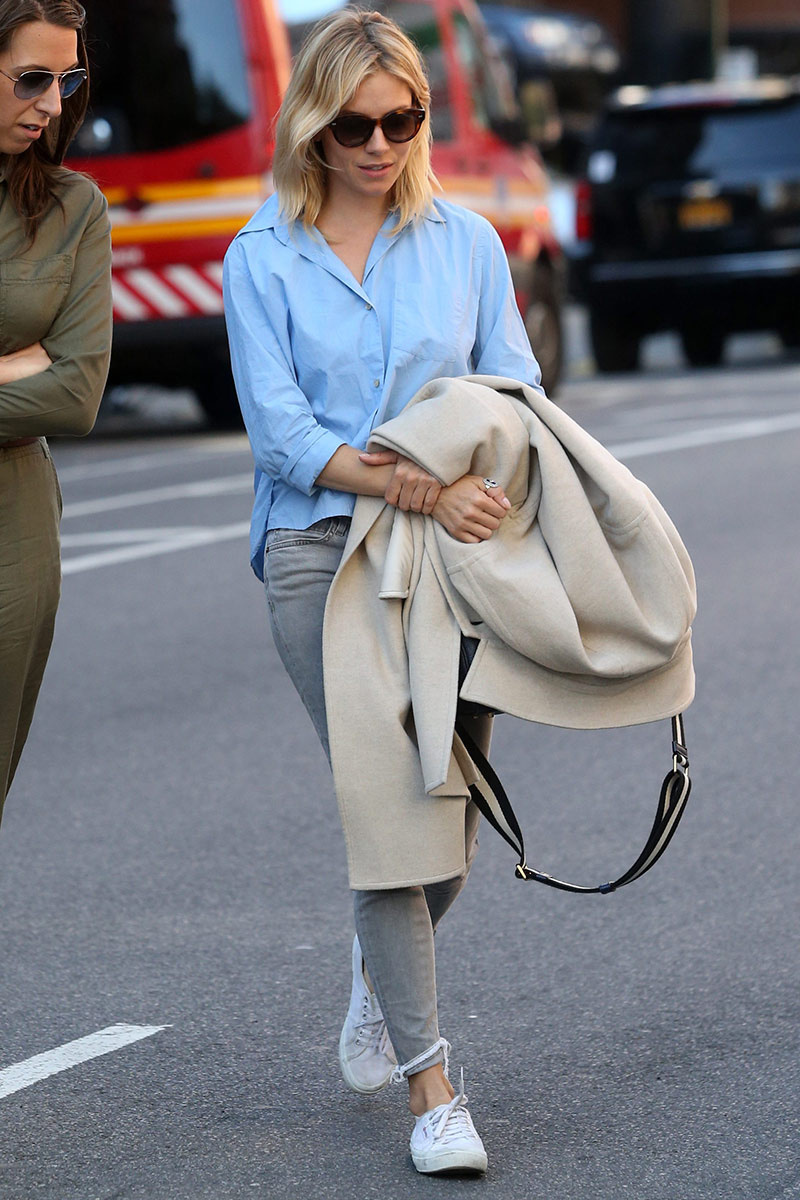 celebrit favorite sneakers Sienna Miller {Cool Chic Style Fashion}