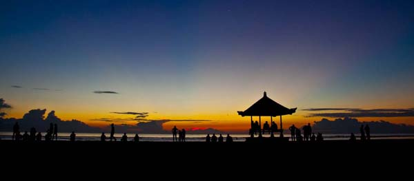 Sanur Beach is ane of the attractions on the coast E of the isle of Bali BeachesinBali; Enjoying Sunset Beach Sanur Bali