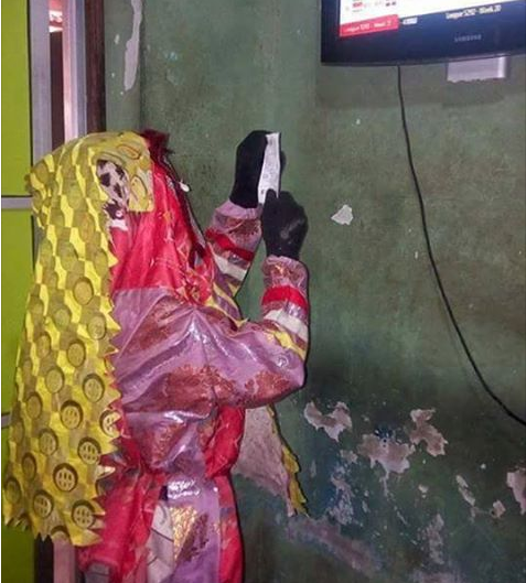 LOL! Another Masquerade Spotted Checking His Betting Slip At A