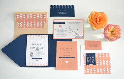 Lake Tahoe Wedding Erin Brian Invitation And