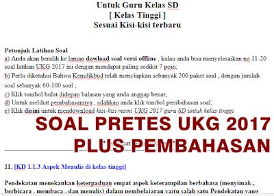 Soal pretes ukg 2017 sd